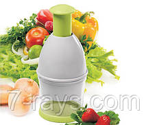 """Измельчитель-чоппер для овощей 22 см. """"Профи"""" зеленый"""