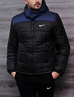 Мужская зимняя куртка Nike сине-черная