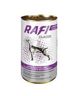 RAFI Classic Полнорационный корм для взрослых собак - мясные кусочки в соусе Кролик с Брокколи 1.25кг