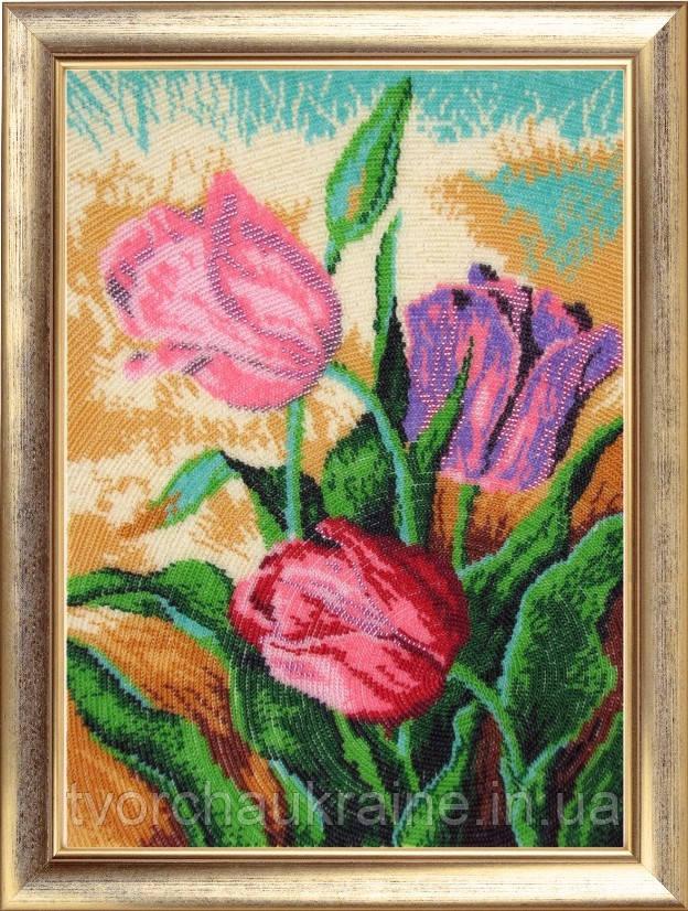 """Набор для вышивки бисером """"Весенние тюльпаны"""""""