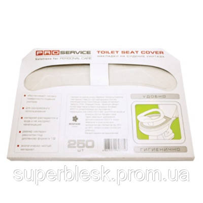 PRO service накладки на сиденье унитаза, 1 слой, 250 шт.
