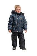Зимний полукомбинезон+куртка для мальчика Самолет