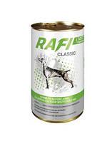 RAFI Classic Полнорационный корм для взрослых собак всех пород - мясные кусочки в соусе Дичь с Морковью 1.25кг