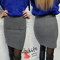 Женская красивая вязаная юбка (2 цвета)
