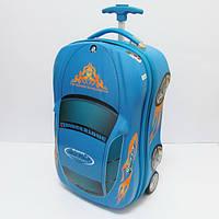 """Детский чемодан дорожный на колесах, """"Josef Otten"""" Машинка, BMW синий 520306"""