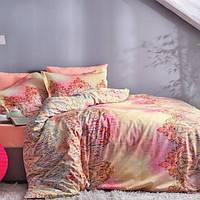 TAC Digital Евро комплект постельного белья сатин Anessa pembe