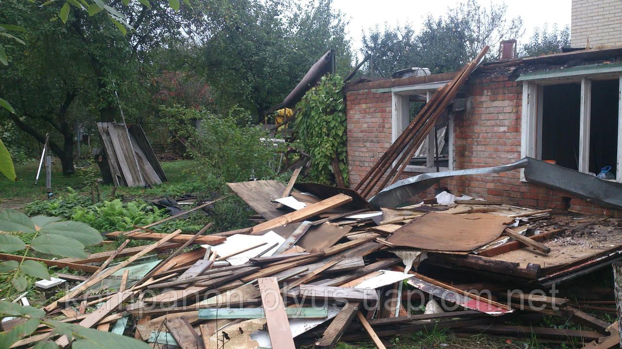 Снос деревянных домов Снос дачного домика