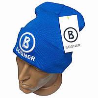 Синяя мужская шапка Bogner