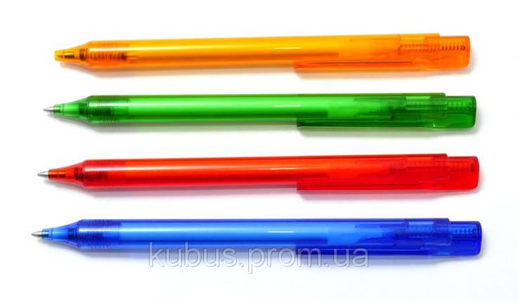 Ручка шар. Sсhneider Essential 937398 корпус прозр. ассорти, син., фото 2
