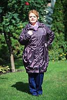 Модный женский плащ (ветровка) больших размеров (рр 56-72)