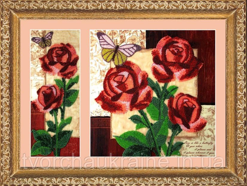 """Набор для вышивки бисером """"Розы"""""""