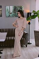 Платье в пол с объемными рукавами АРТ! 190
