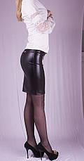 Женская юбка кожаная, р.40-52, фото 3