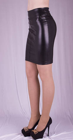 Женская юбка кожаная, р.40-52, фото 2