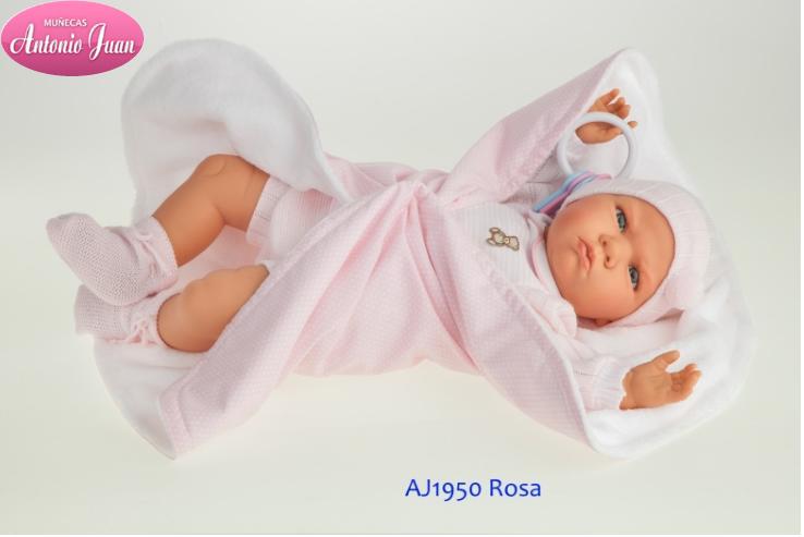 Кукла младенец 52 см Берта Antonio Juan 1950 звук