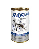 RAFI Classic Полнорационный корм для взрослых собак всех пород - мясные кусочки в соусе Утка с Зеленым 1.25кг