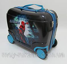 Детский чемодан - каталка на 4 колесах Человек Паук, Spider Man
