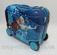 Детский чемодан - каталка на 4 колесах Холодное Сердце, Frozen