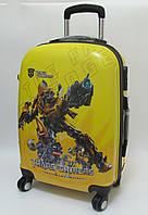"""Детский чемодан дорожный, кодовый замок """"Josef Otten"""" Трансформеры, Transformers 20"""" на четырех колесах 520302"""