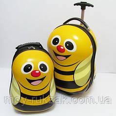 "Набор чемодан детский на колесах + рюкзак ""Josef Otten"" Пчелка"