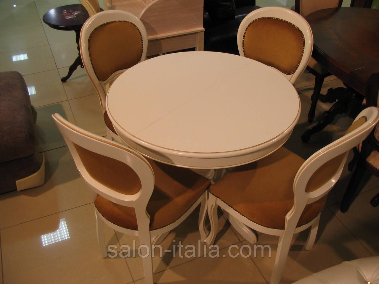 Стіл круглий ВТС (Італія) 90см, розкладний, фото 1