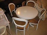 Стіл круглий ВТС (Італія) 90см, розкладний, фото 3