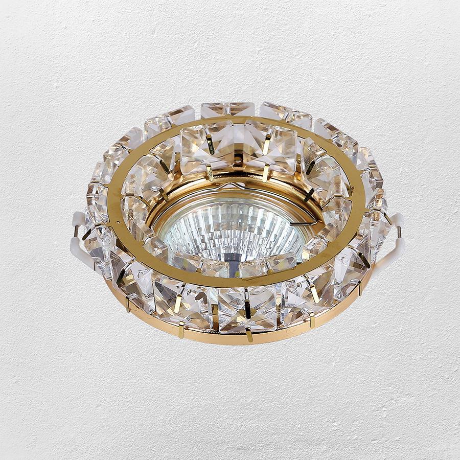 Точечный врезной светильник (модель 16-MKD030 GD MR16 )