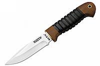 Нож для тяжелых работ НДТР-1, чехол из кожи в комплекте, рукоять дерево наборная кожа, нож охотничий