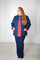 Женская оригинальная двусторонняя куртка больших размеров (рр 50-72)