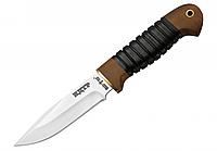 Нож для тяжелых работ НДТР-2, чехол из кожи в комплекте, рукоять дерево наборная кожа, нож охотничий
