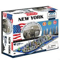 Пазл 4D Историческая модель Нью Йорк 840 деталей