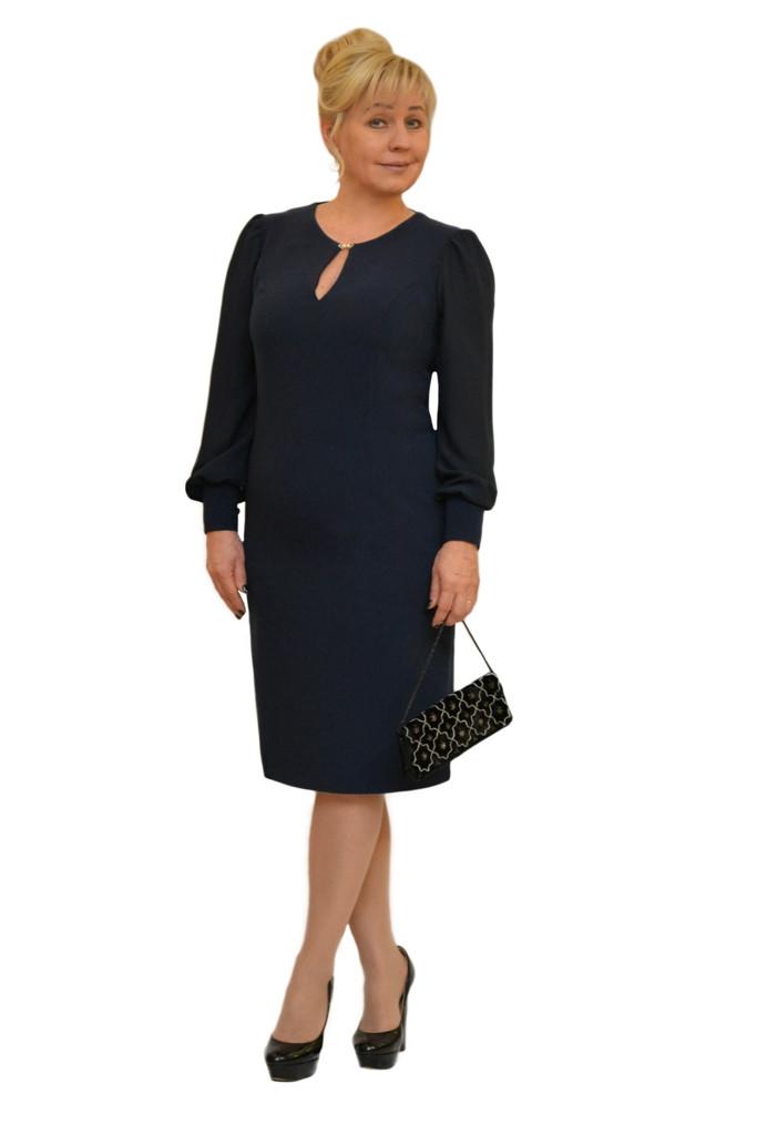 """Платье """"Артемида"""" т.синее - Модель 1442-3"""