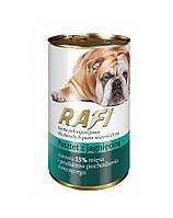 RAFI Dog Паштет Полнорационный корм для взрослых собак всех пород с Ягненком 0.8кг