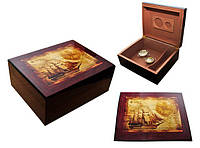Хьюмидор для 50 сигар «Парусник», Арт.0256000, коричневый, фото 1