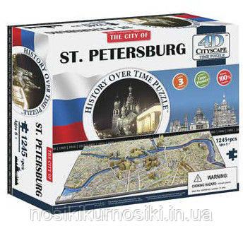 Пазл 4D Историческая модель Санкт Петербург 1245 деталей