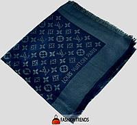 Шаль Louis Vuitton Metal синяя с золотом
