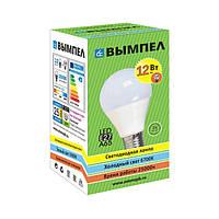 Лампа светодиодная энергосберегающая LED E27 12Вт (Белый свет 4000К), вымпел, светотехника
