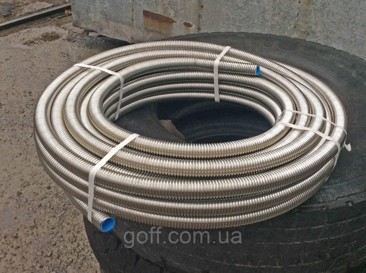 Труба гофрированная из нержавейки диаметром 32 мм, отожженная