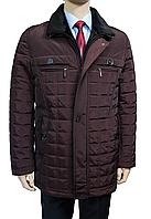 """Мужская зимняя куртка """"Pierre Carlos"""". Стеганная. Бордовая. Турция"""
