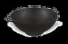 Кастрюля чугунная WOK, эмалированная без крышки. Объем 3,5 литров. Чёрно-матовая.