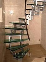 Стеклянная лестница по индивидуальному заказу.триплекс для стеклянной лестницы.лестница из безопасного стекла., фото 1
