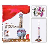 Пазл 3D Восточная жемчужина Oriental Pearl Tower 86 деталей