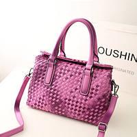 Надежная сумка из высококачественной PU кожи. Женская сумка плетеная. Практичная сумка. Купить. Код: КДН1016
