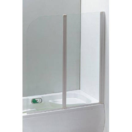 Шторка на ванну 120*138 см, цвет профиля белый EGER 599-121W, фото 2
