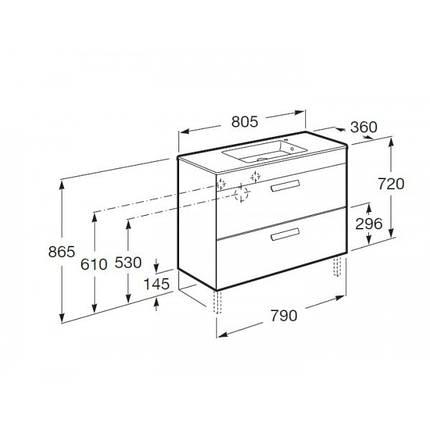 Шкафчик 80см + умывальник ROCA DEBBA (A855907153), фото 2