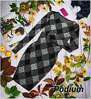 Вязаное платье в ромбы с люрексовой нитью