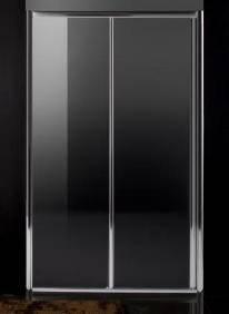 Дверь в нишу раздвижная  120*185 см хром прозрачная, фото 2