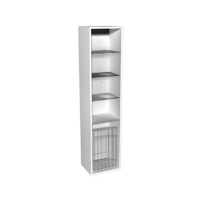 Корпус к шкафчику боковому,высокому,правому или левому с корзиной для белья KOLO DOMINO 88343-000, фото 2