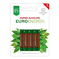 Батарейка Euroenergy Super Alkaline AAA LR03 4 шт в блистере