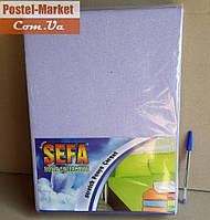 Простынь на резинке белая 90*200 с наволочкой SEFA, махра